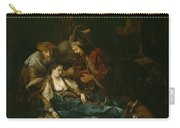 The Death Of Lucretia - Mid 1640s  Carry-all Pouch by Harmensz van Rijn Rembrandt