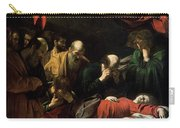 The Death Of The Virgin Carry-all Pouch by Caravaggio