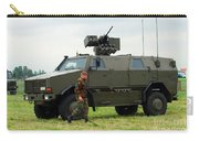 The Dingo II In Use By The Belgian Army Carry-all Pouch by Luc De Jaeger