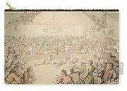 The Dog Fight Carry-all Pouch by Thomas Rowlandson