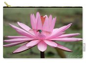 The Dragonfly And The Pink Water Lily Carry-all Pouch