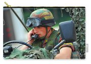The Driver Of A Mortar Section Carry-all Pouch by Luc De Jaeger