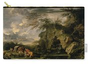 The Finding Of Moses Carry-all Pouch by Salvator Rosa