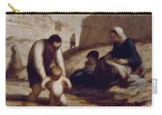 The First Bath  Carry-all Pouch by Honore Daumier