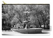 The Fountain And The Ride In Black And White Carry-all Pouch