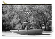 The Fountain In Black And White Carry-all Pouch