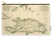 The French And Spanish Colony Of The Island Of St Dominic Of The Greater Antilles Carry-all Pouch by Guillaume Raynal