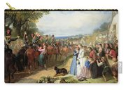 The Girls We Left Behind Us - The Departure Of The 11th Hussars For India Carry-all Pouch by Thomas Jones Barker