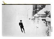 The Great Blizzard, Nyc, 1888 Carry-all Pouch by Science Source