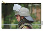 The Helmet And Visor Used Carry-all Pouch by Luc De Jaeger