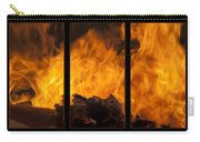 The Home Fires Are Burning Triptych Carry-all Pouch