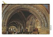 The Interior Of The Lower Basilica Of St. Francis Of Assisi Carry-all Pouch by Thomas Hartley Cromek