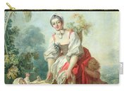 The Joys Of Motherhood Carry-all Pouch by Jean-Honore Fragonard