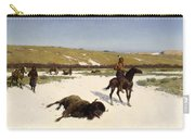 The Last Of The Herd Carry-all Pouch by Henry Francois Farny