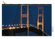 The Mackinaw Bridge At Night By The Straits Of Mackinac Carry-all Pouch