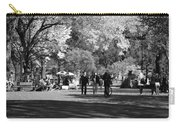 The Mall At Central Park In Black And White Carry-all Pouch