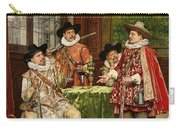 The Musketeer's Tale Carry-all Pouch by Adolphe Alexandre Lesrel