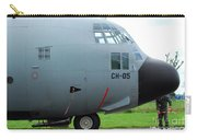 The Nose Of A Hercules C-130 Airplane Carry-all Pouch by Luc De Jaeger
