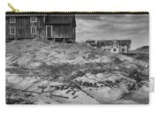 The Old Fisherman's Hut Bw Carry-all Pouch by Heiko Koehrer-Wagner