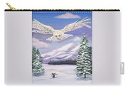 The Owl And The Rat Carry-all Pouch by Phyllis Kaltenbach