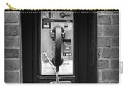 The Payphone - Black And White Carry-all Pouch