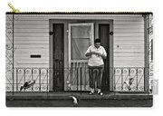 The Pigeon Lady - Black And White Carry-all Pouch