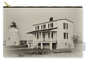 The Piney Point Lighthouse In Sepia Carry-all Pouch