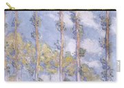 The Poplars Carry-all Pouch by Claude Monet