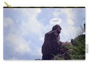 The Praying Monk With Halo - Camelback Mountain - Painted Carry-all Pouch by James BO  Insogna
