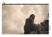 The Praying Monk With Halo - Camelback Mountain Carry-all Pouch by James BO  Insogna