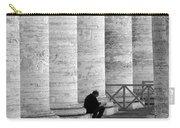 The Reader Amidst The Columns Bw Carry-all Pouch