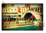 The Rialto Bridge Of Venice In Las Vegas Carry-all Pouch