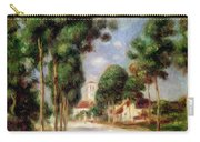 The Road To Essoyes Carry-all Pouch by Pierre Auguste Renoir