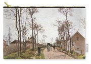 The Road To Saint Cyr At Louveciennes Carry-all Pouch by Camille Pissarro