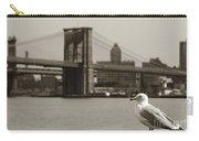 The Seagull Of The Brooklyn Bridge Carry-all Pouch