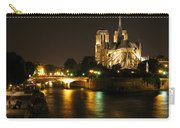 The Seine And Notre Dame At Night Carry-all Pouch