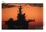The Setting Sun Silhouettes Carry-all Pouch