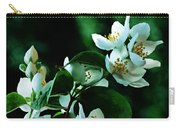The Soft White Blossom  Carry-all Pouch