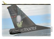 The Tail Of A Belgian F16 Aircraft Carry-all Pouch by Luc De Jaeger