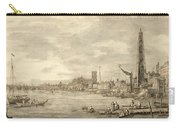 The Thames Looking Towards Westminster From Near York Water Gate  Carry-all Pouch by Giovanni Antonio Canaletto