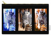 The Three Zebras Black Borders Carry-all Pouch by Rebecca Margraf