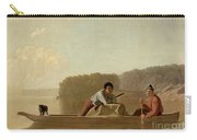 The Trapper's Return Carry-all Pouch by George Caleb Bingham