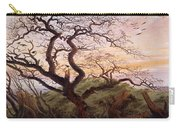 The Tree Of Crows Carry-all Pouch by Caspar David Friedrich
