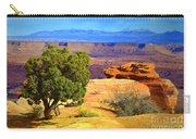 The Tree The Canyon And The Mountains Carry-all Pouch