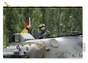 The Turret Of The Leopard 1a5 Mbt Carry-all Pouch by Luc De Jaeger