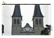 The Twin Spires Of Hof Church In Lucerne Carry-all Pouch