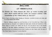 The Union Is Dissolved, 1860 Broadside Carry-all Pouch