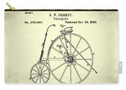 The Velocipede Patent 1880 Carry-all Pouch