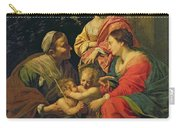 The Virgin And Child With Saints Carry-all Pouch by Simon Vouet