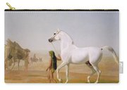 The Wellesley Grey Arabian Led Through The Desert Carry-all Pouch